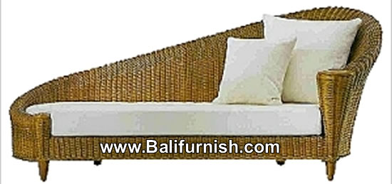 Wicker indoor chaise lounge furniture indonesia