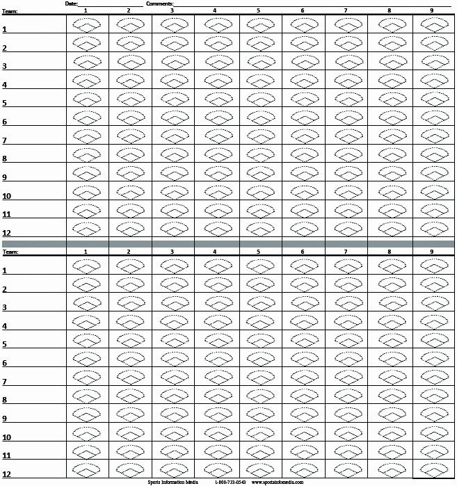 BALLCHARTS - Baseball Pocket Scorecard Large