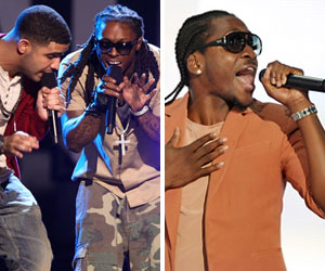Drake, Lil Wayne and Pusha T