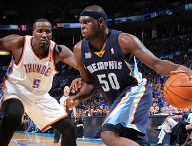 Kendrick Perkins (left) and Zach Randolph (right)
