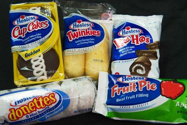 Hostess snacks - Twinkies, Ho Hos, etc