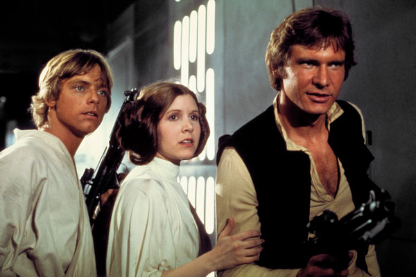 Luke Skywalker, Princess Leia and Han Solo