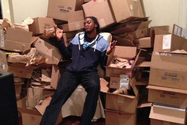 Robert Griffin III gets wedding gifts from fans.