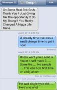 Final texts between Meek Mill and Lil Snupe.