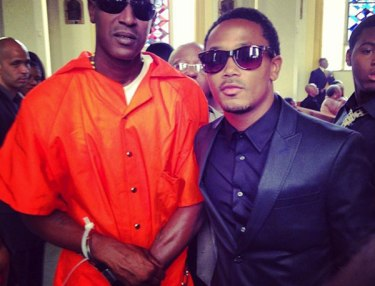 C-Murder and Romeo at grandmother's funeral