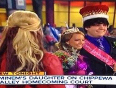 Eminem's daughter Hailie Scott Mathers named homecoming queen at Chippewa Valley High School