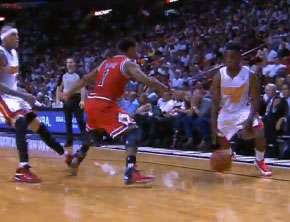 Norris Cole's Killer Crossever On Derrick Rose
