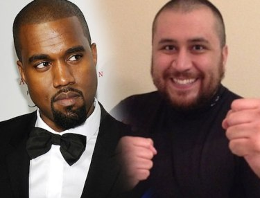 Kanye West and George Zimmerman
