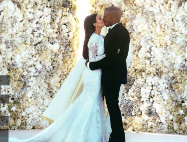 First Photos From Kanye West, Kim Kardashian's Wedding