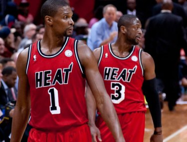 Dwyane Wade and Chris Brosh