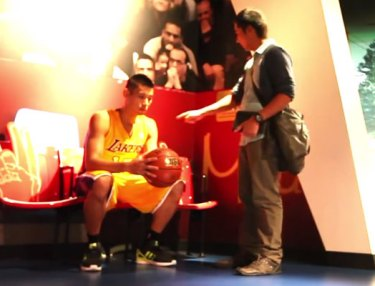 Jeremy Lin Pranks Guests At Madame Tussauds
