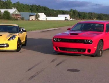 Dodge Challenger Hellcat vs. Corvette Stingray: Who Will Win?
