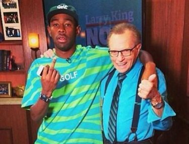 Larry King and Tyler The Creator