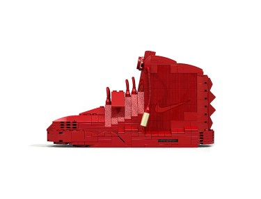 Nike Air Yeezy 2 'Red October' LEGO Replica