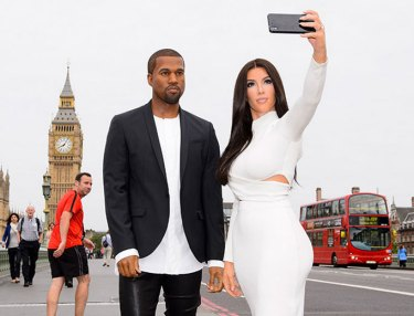 Kanye West, Kim Kardashian Immortalized In Wax