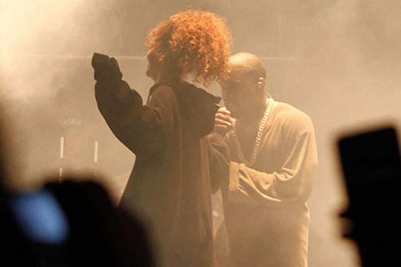 Rihanna and Kanye West at the FYF Fest 2015