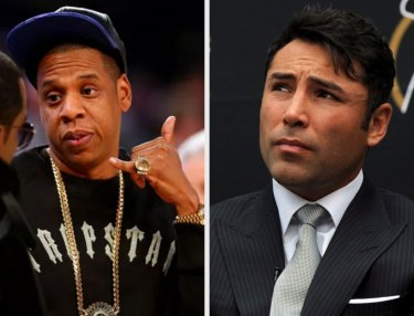 Jay Z and Oscar De La Hoya