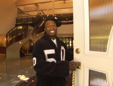 50 Cent at his mansion
