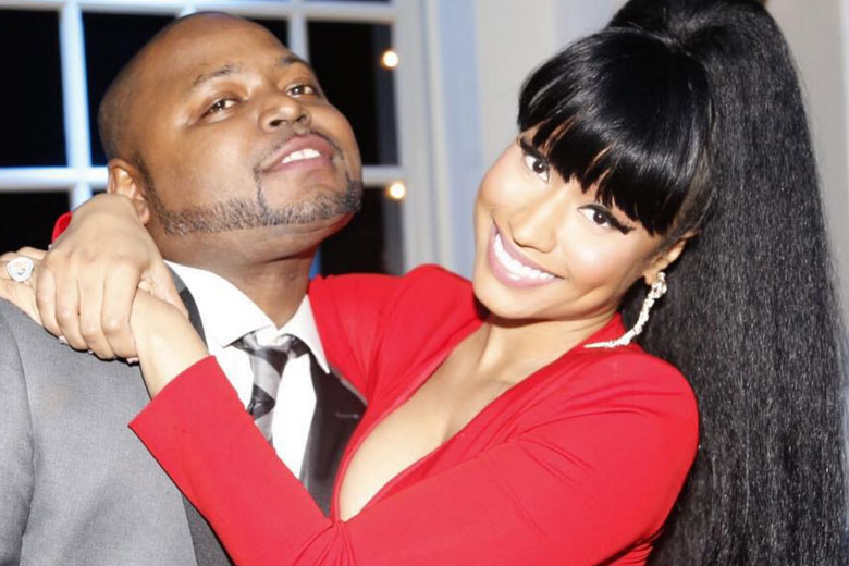 Nicki Minaj with brother Jelani Maraj