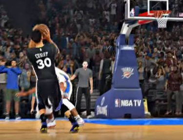Someone Recreated Stephen Curry's Gaming-Winning Shot on NBA 2K16