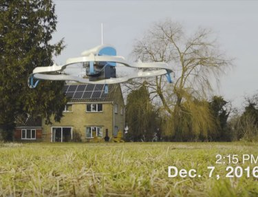 Amazon Prime Air's First Drone Delivery