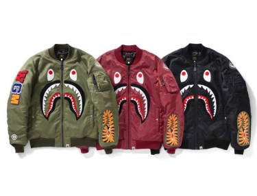 BAPE MA-1 Shark Flight Jacket