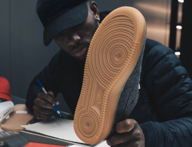 Bryson Tiller Designs Special Air Force 1's at NikeLab Session