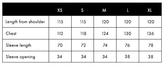 Size Charts Balmuir