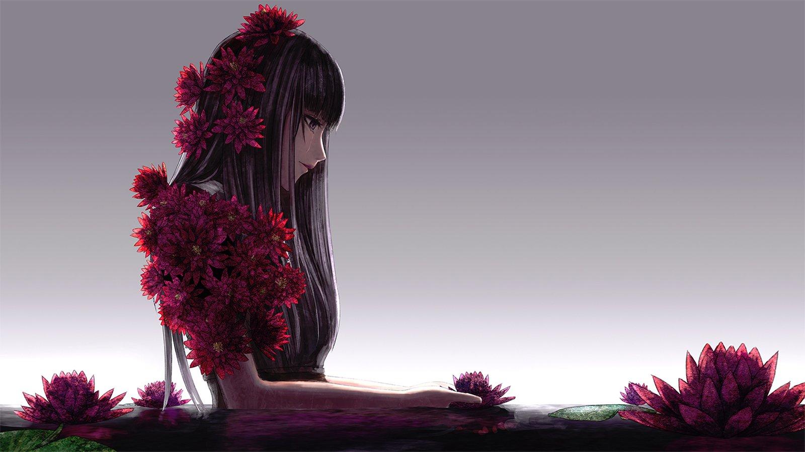 Free Download Girl Wallpaper For 360x640 Alone Anime Girl Hd Wallpaper 21321 Baltana