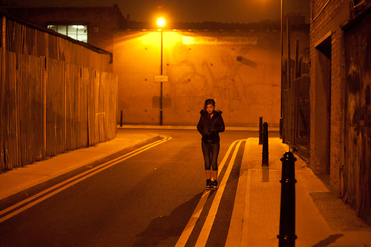 Sad Girl Standing Alone Wallpapers Girl On Road In Night Wallpaper 21860 Baltana