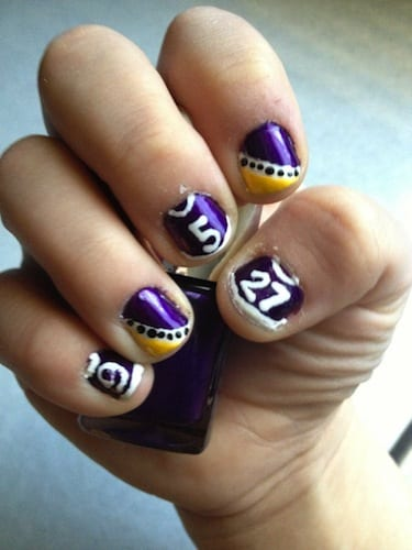 Ravens-themed manicures and other Super Bowl-themed activities boost Baltimore's economy. So go get your nails done.