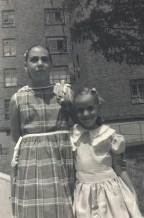 The author (right) and her sister, Helene.