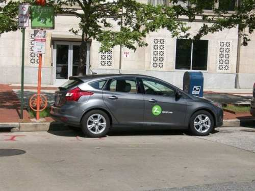 A Zipcar in Baltimore