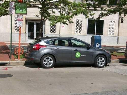 A Zipcar in Baltimore