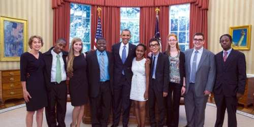 Baltimore debaters hanging out at the White House.