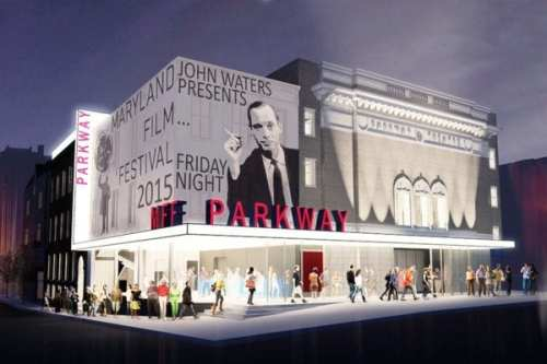 Rendering of the new Parkway Theatre, where the new film/media program will be based