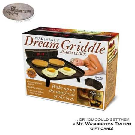 Wake 'n Bake Dream Griddle... Or you could get them a ‪#‎MtWashingtonTavern‬ gift card! BUY NOW: http://mtwashingtontavern.com/shop/