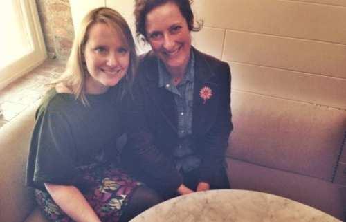 Jessica Henkin and Laura Wexler, creators of The Stoop Storyteling Series. Photo via coolprogeny.com
