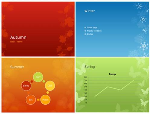 Dale a tus presentaciones un toque estacional con los nuevos Temas - presentaciones powepoint