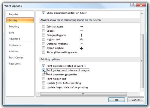 Cómo asegurarse de imprimir documentos Word con fondo BaluartNET