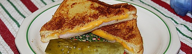 Super Grilled Cheese with Canadian Bacon and Honey Mustard