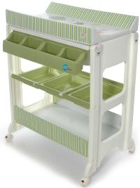 Bade Wickel Kombination Wickeltisch Babywanne fahrbar | eBay