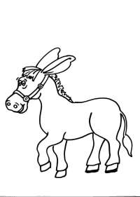 disegni animali della fattoria da colorare:asino,asina ...