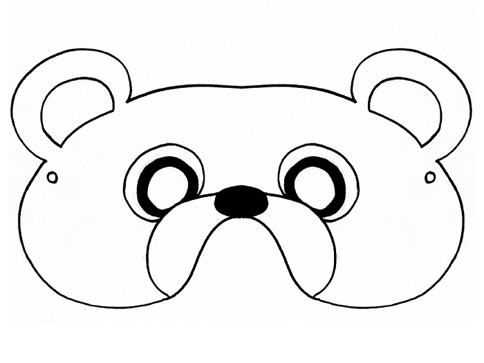 Teddy Bear Mask Template – Mask Templates for Adults