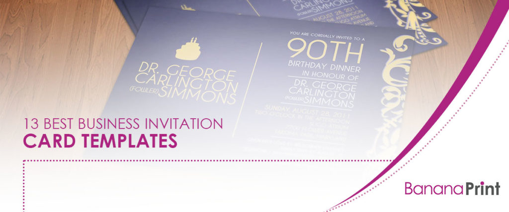 13 Best Business Invitation Card Templates
