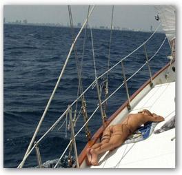nude women sailing puffy tits