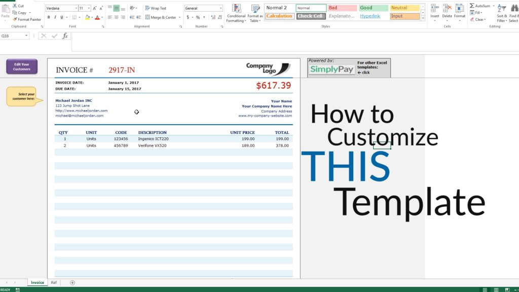 How To Create An Invoice In Excel Free Invoice Template Download - how to do an invoice for work