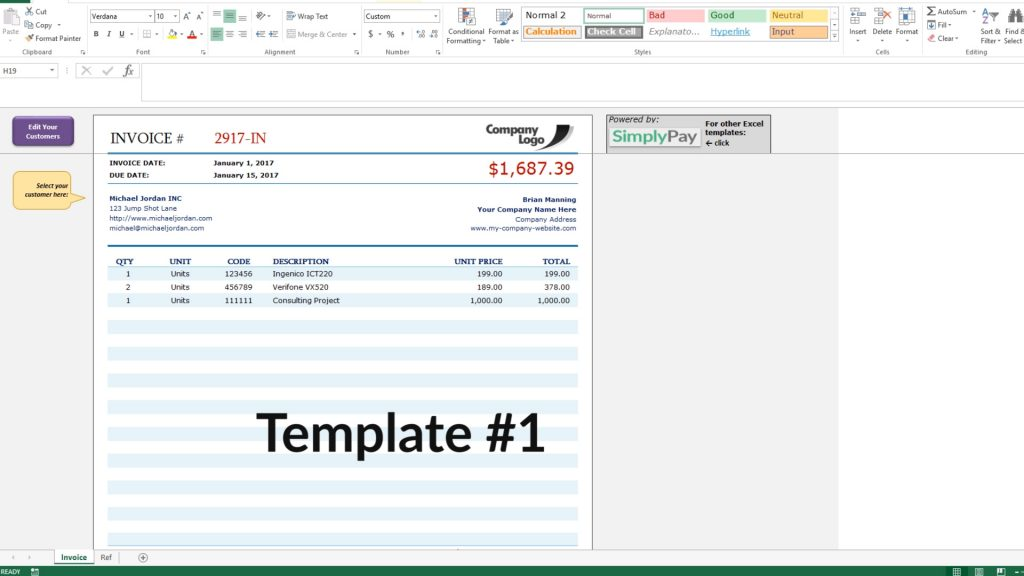How To Create An Invoice In Excel Free Invoice Template Download