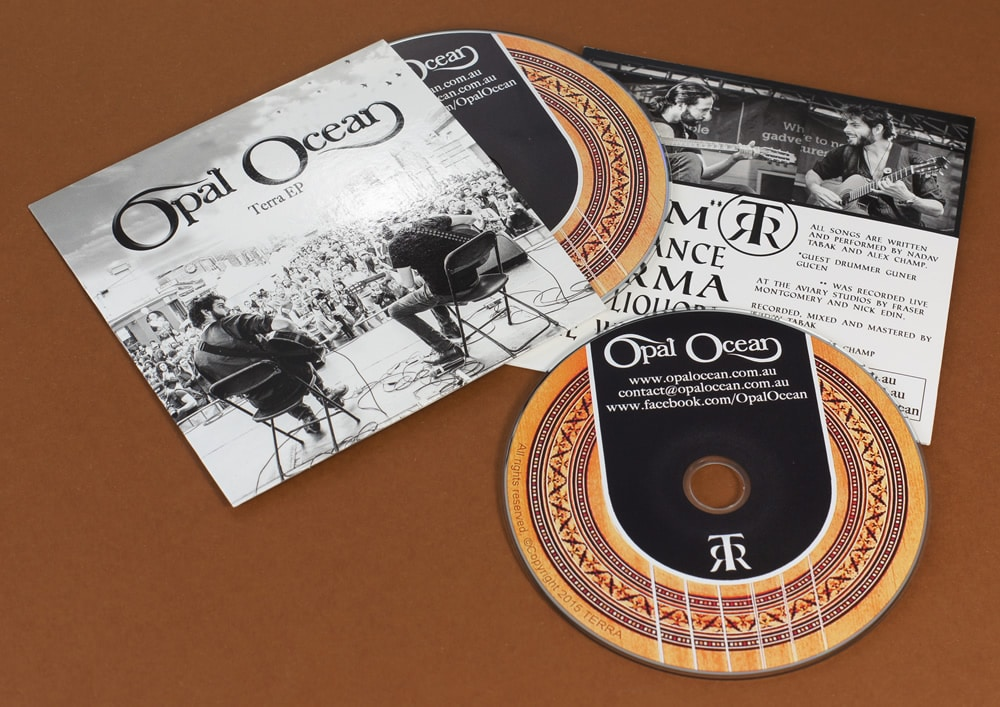CD duplication in printed card wallets Band CDs