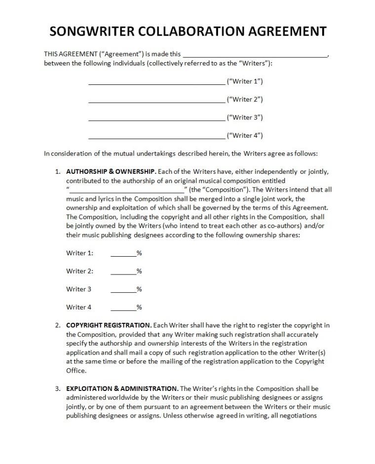 Pricing Band Partnership Agreement - Partnership Agreement Contract